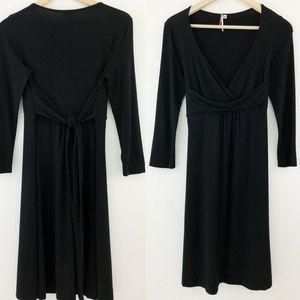 Anthro Ric Rac Pima Cotton V-Neck Wrap Dress